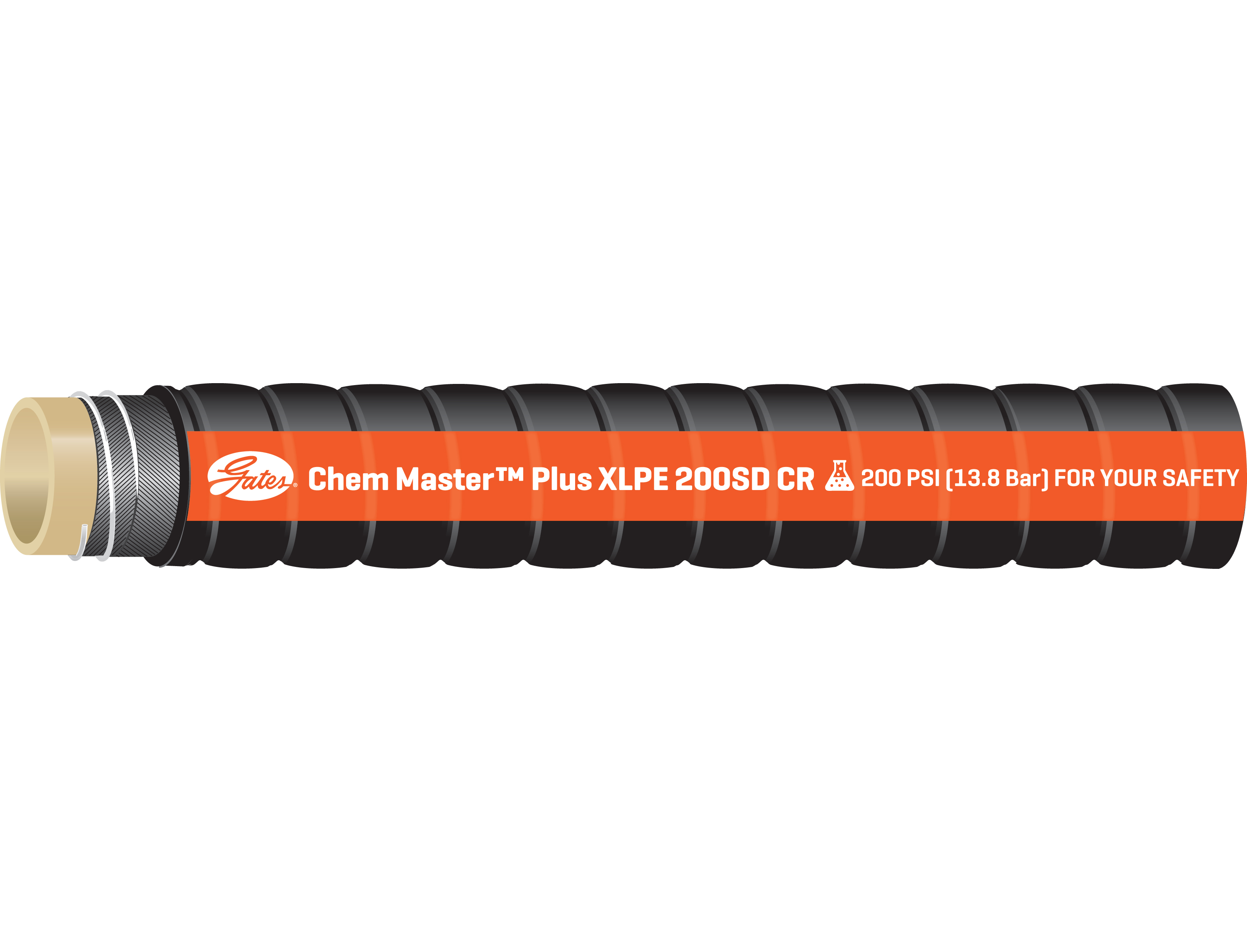 Chem Master Modified XLPE Crush-Resistant Hose