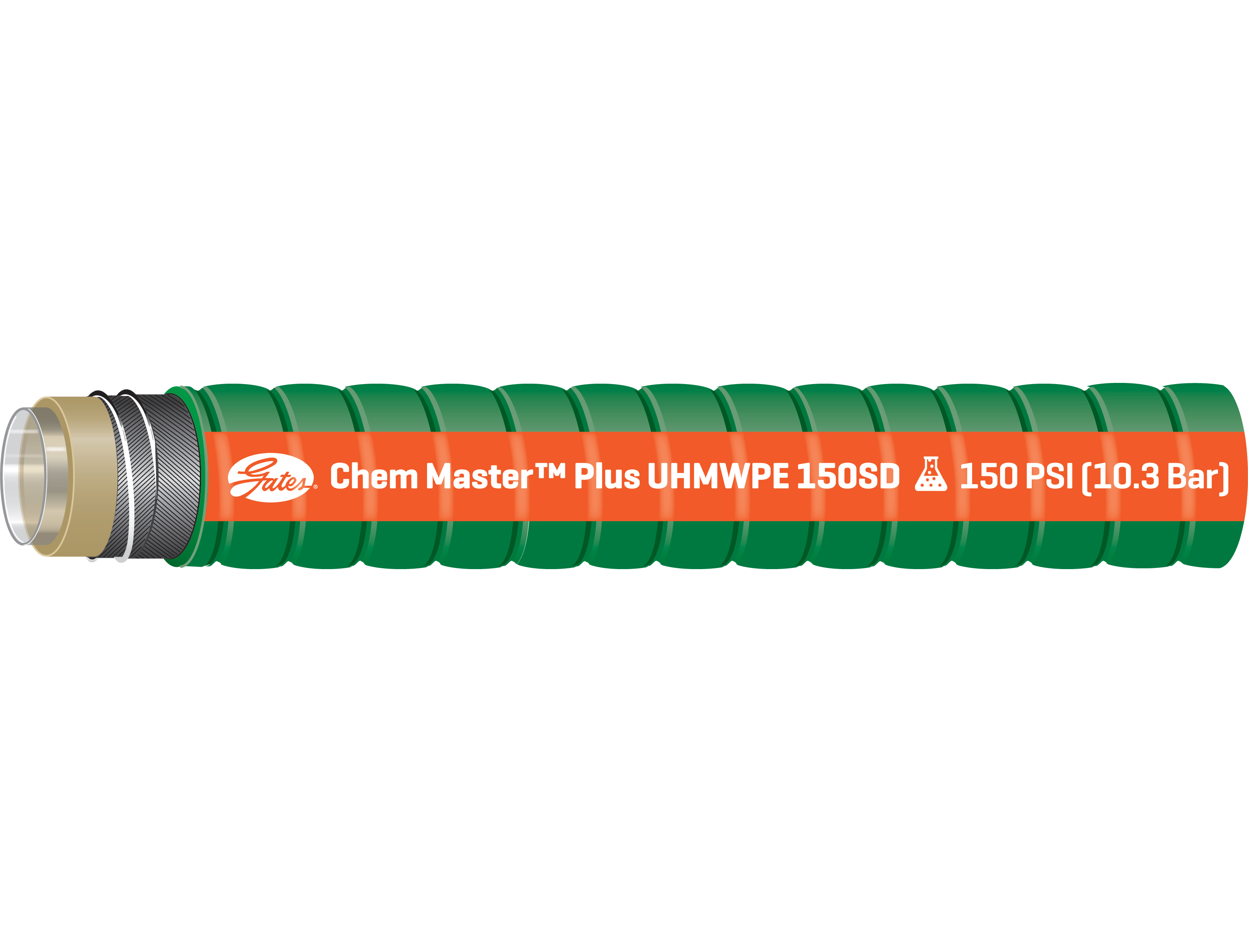 Chem Master UHMWPE Hose With High Chemical Resistance