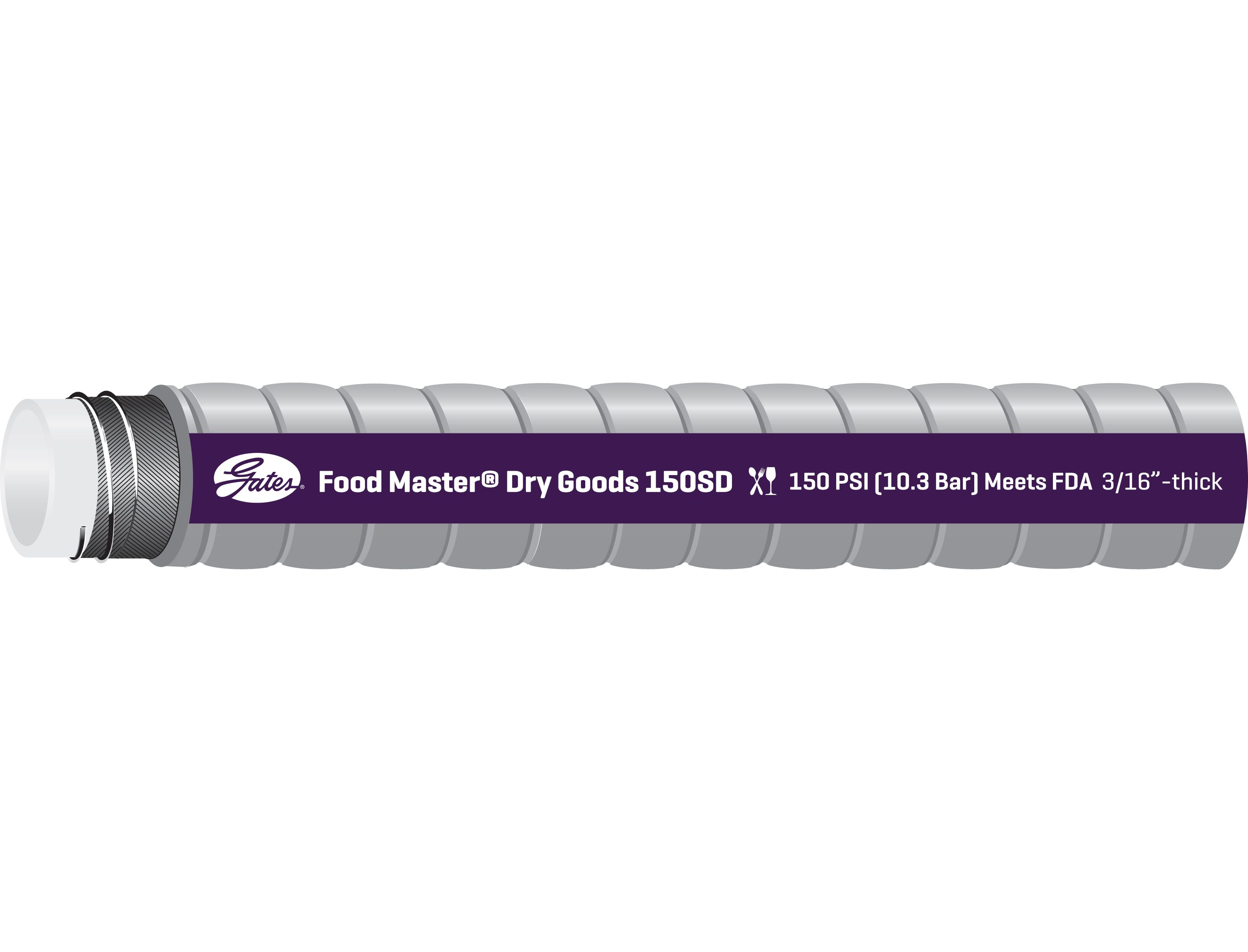 Food Master Dry Goods (25-40)D Transfer Hose