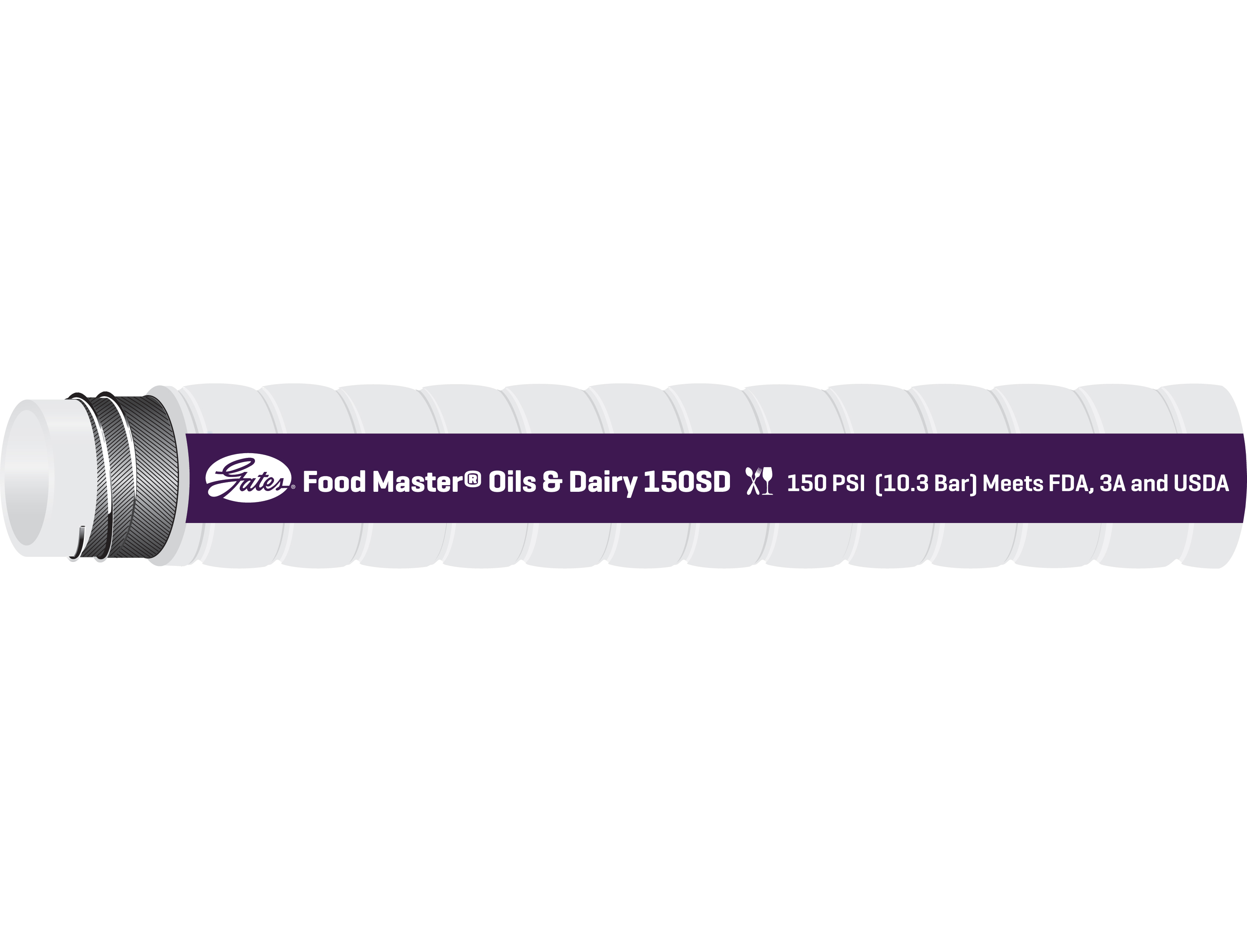 Food Master Oils & Dairy 150D FDA Sanitary Hose